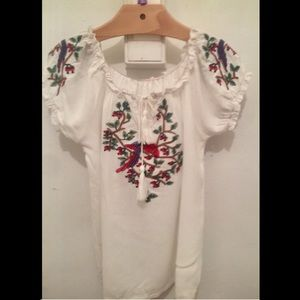 A cotton/embroidered cute girl top!!!
